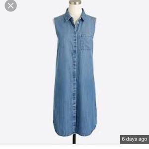 J. Crew Factory Dresses - J.Crew factory sleeveless denim dress